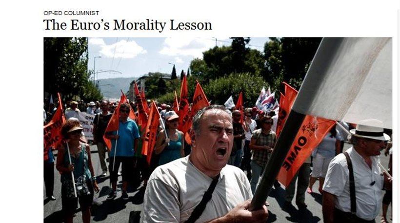 ΝΥΤ: «Οι Έλληνες προτίμησαν το φακελάκι από την ηθική»