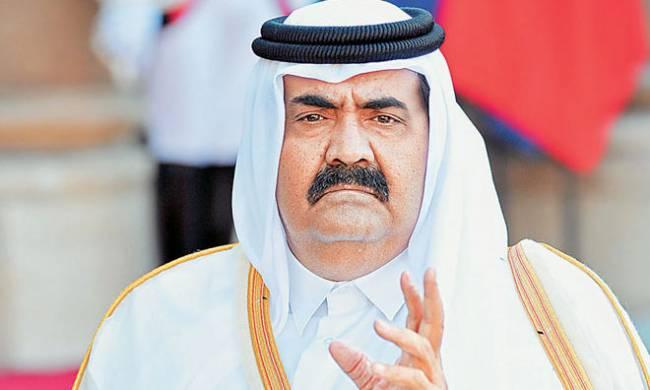 O εμίρης του Κατάρ, Χαλίφα αλ Θάνι.