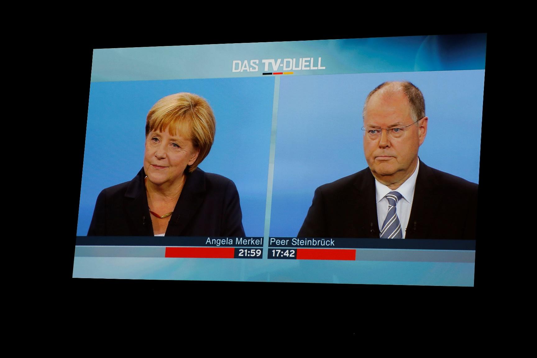 Νικητής του γερμανικού debate στα σημεία ο Στάινμπρουκ