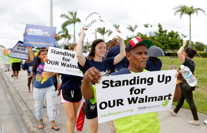 Διαδηλώσεις στις ΗΠΑ εναντίον της Wal-Mart