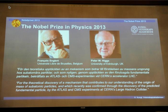 Οι Ένγκελερτ και Χιγκς νικητές του Νόμπελ Φυσικής 2013