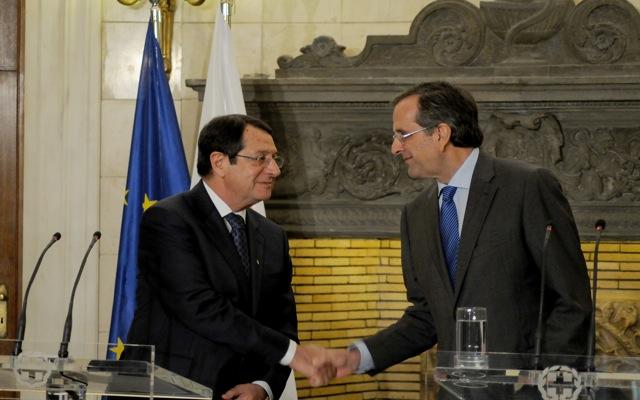 Το «Κυπριακό» στο επίκεντρο της συνάντησης Σαμαρά-Αναστασιάδη