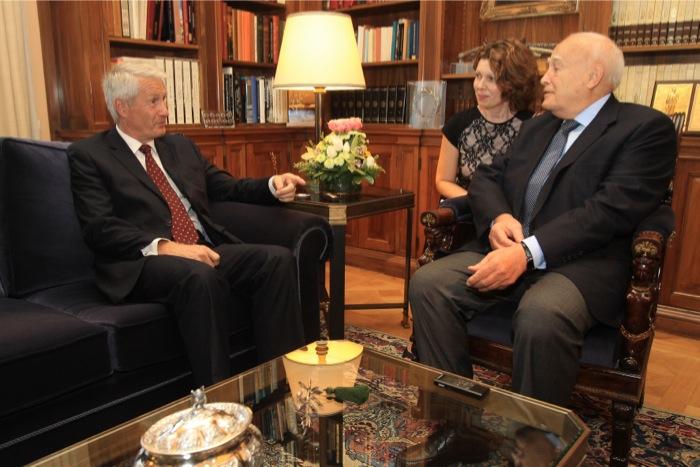 Τον Γ.Γ. του Συμβουλίου της Ευρώπης συνάντησε ο Κάρολος Παπούλιας