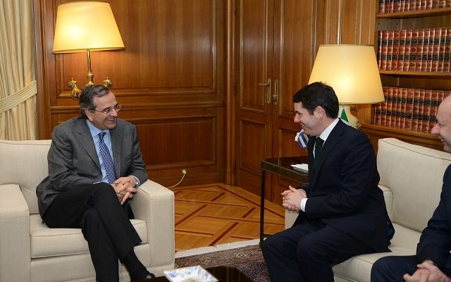 Συνάντηση Σαμαρά με τον Ιρλανδό υπουργό Ευρωπαϊκών Υποθέσεων