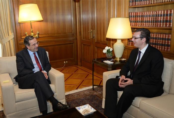 Συνάντηση Σαμαρά με τον αναπλ. πρωθυπουργό της Σερβίας