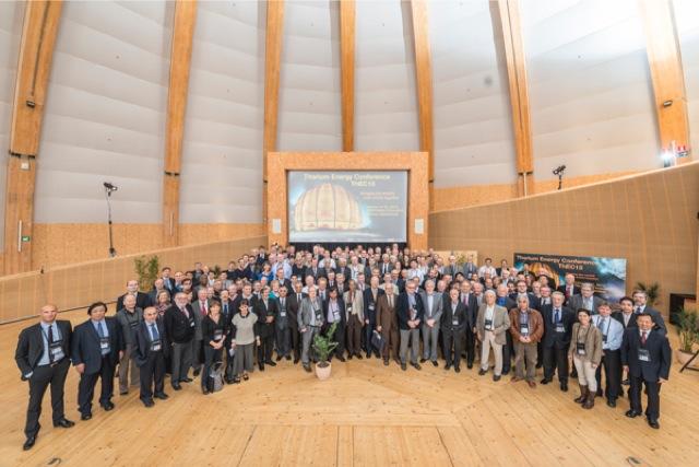Oι συμμετέχοντες στο συνέδριο ThEC13 στο CERN. Συμμετείχαν επιστήμονες από 32 χώρες