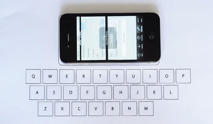 Τυπώστε χάρτινα πληκτρολόγια από το smartphone σας!