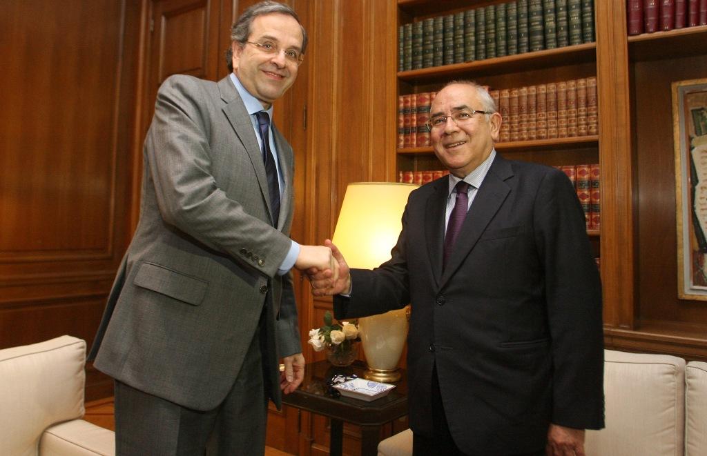 Για το Κυπριακό συζήτησαν Σαμαράς-Ομήρου