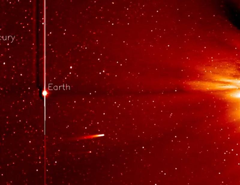 O ήλιος «νίκησε» τον κομήτη «Ίσον»