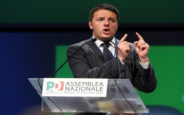 Γραμματέας του Δημοκρατικού Κόμματος της Ιταλίας ο Ματέο Ρέντσι