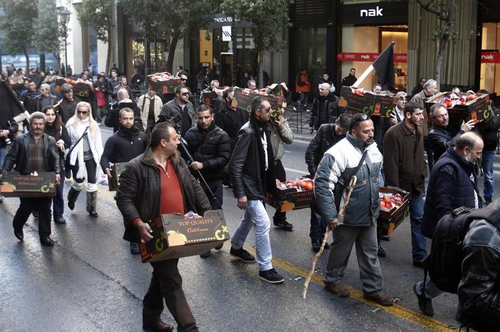Πορεία αγροτών κατά της φορολόγησης των αγροτεμαχίων