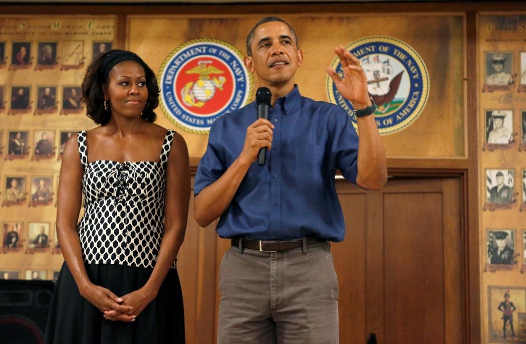 O Oμπάμα επισκέφτηκε βάση πεζοναυτών στη Χαβάη