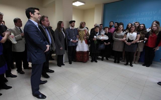 Το 2014 να είναι χρονιά ελπίδας ευχήθηκε ο Αλέξης Τσίπρας