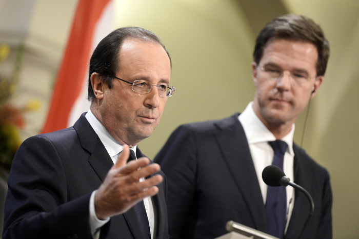Ασυνόδευτος ο Γάλλος πρόεδρος στην Ολλανδία