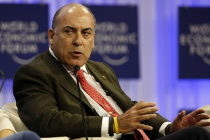 Kent Chairman of the Board and CEO of Coca-Cola Company attends session of World Economic Forum in Davos