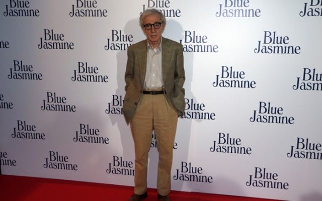 "U.S. director Woody Allen poses during the premiere of his film ""Blue Jasmine"" in Paris"
