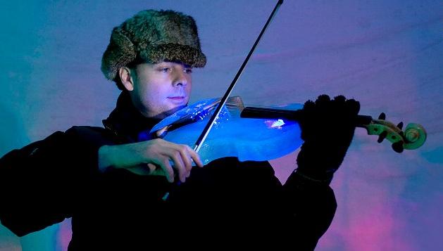 Μουσική με όργανα από πάγο!