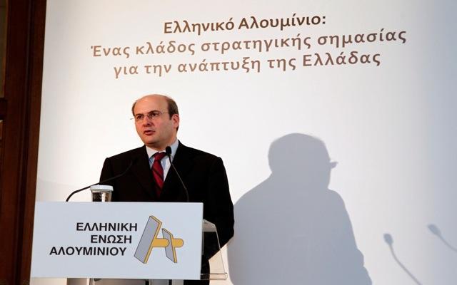 Χατζηδάκης: Μέτρα ενίσχυσης της ελληνικής βιομηχανίας αλουμινίου