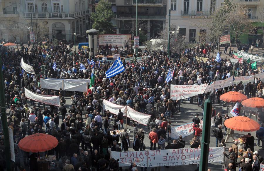 Πανελλαδικό συλλαλητήριο αγροτών στο κέντρο της Αθήνας