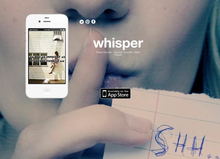 Whisper: Το πρώτο… «anti-social network»