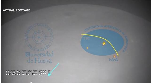 Βίντεο:  Δείτε μετεωρίτη να σκάει πάνω στη Σελήνη