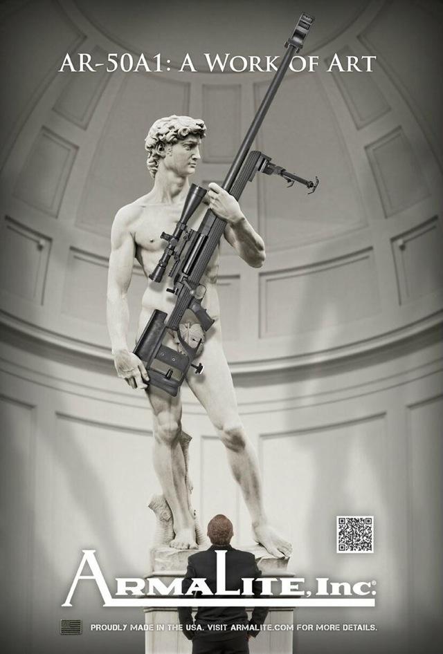 Ο Δαβίδ του Μιχαήλ Άγγελου κρατάει όπλο