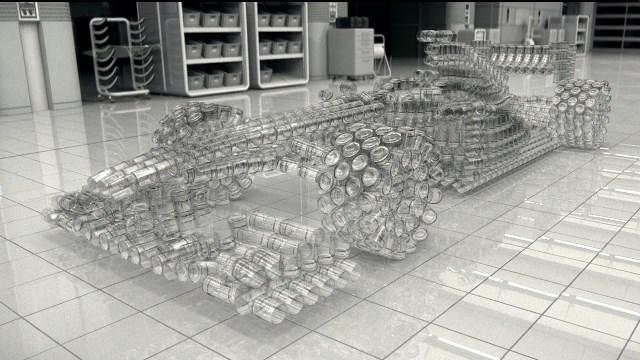 Μια Formula 1 φτιαγμένη από γυαλί