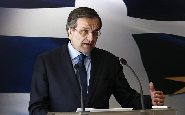 Σαμαράς: «Ευχαριστώ τον ελληνικό λαό από τα βάθη της καρδιάς μου»