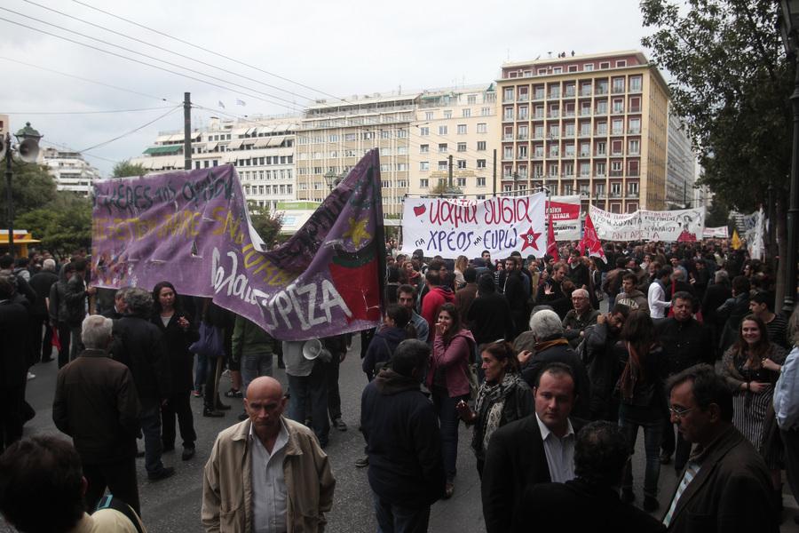 Συγκέντρωση και πορεία διαμαρτυρίας για την επίσκεψη Μέρκελ