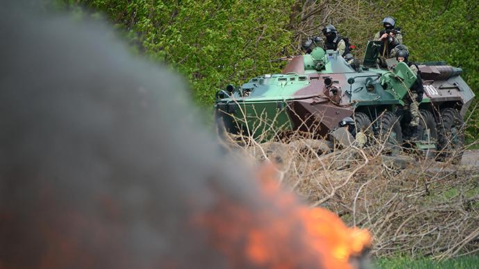 Επίθεση του κυβερνητικού στρατού στο Σλαβιάνσκ