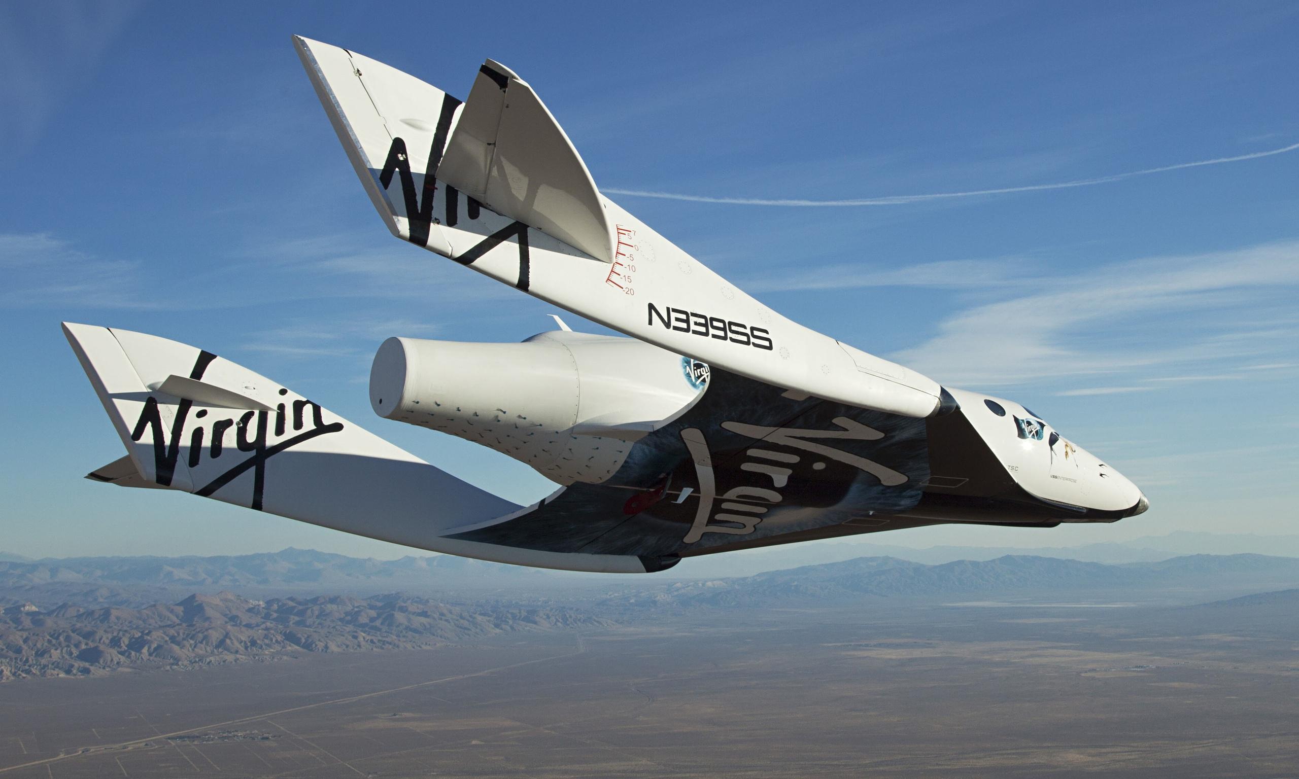 Επιτυχής η πρώτη δοκιμαστική πτήση του διαστημικού τουριστικού σκάφους της Virgin Galactic