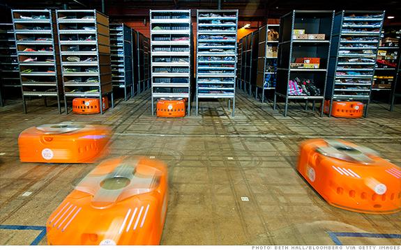 Τα ρομπότ εισβάλουν στις αποθήκες της Amazon
