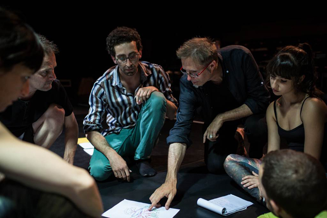 Michael Doser working with dancers_credit_Gregory Bartadon