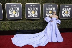 epa07267017 Lady Gaga arrives for the 76th annual Golden Globe Awards ceremony at the Beverly Hilton Hotel, in Beverly Hills, California, USA, 06 January 2019.  *** Local Caption *** 52514391  EPA/MIKE NELSON *** Local Caption *** 52514391