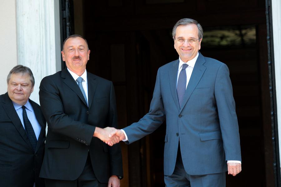 Συνάντηση του Αντώνη Σαμαρά με τον πρόεδρο του Αζερμπαϊτζάν