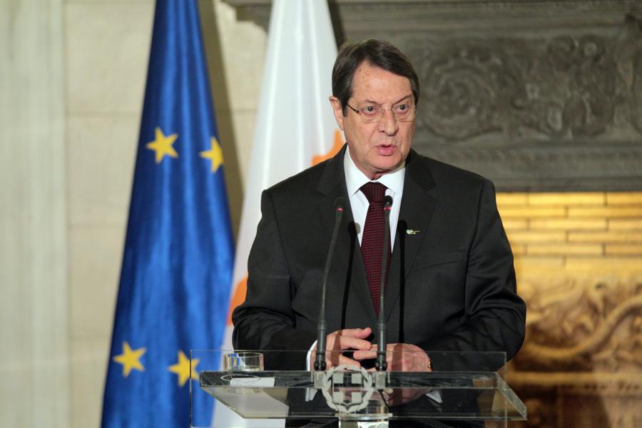 Αναστασιάδης: Οι Ευρωπαίοι εταίροι δεν θα ανεχθούν ως λύση στο Κυπριακό αυτό που προτείνει η Τουρκία