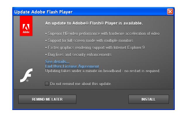 Αν δεν αναβαθμίσατε τον Adobe Flash Player, κάντε το τώρα