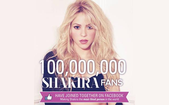 Εκατό εκατομμύρια Likes για την Σακίρα