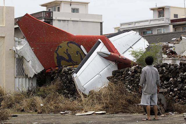 Στους 48 οι νεκροί της συντριβής αεροσκάφους στην Ταϊβάν