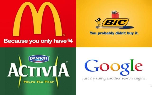 Τα «πραγματικά» σλόγκαν των εταιρειών