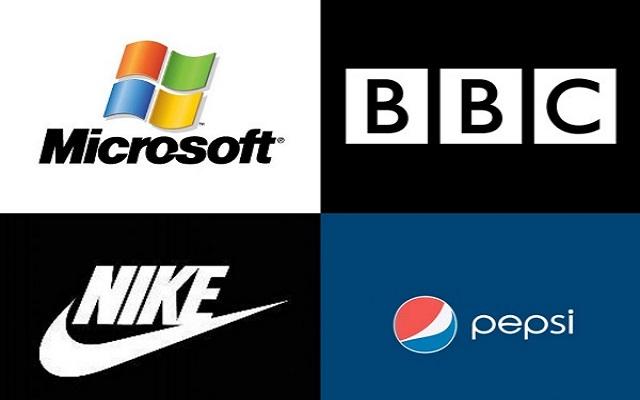 Τα λογότυπα των εταιρειών σε αριθμούς