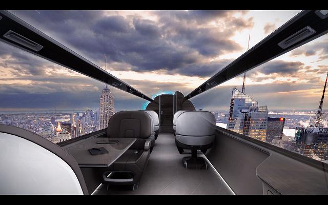 Το αεροπλάνο χωρίς παράθυρα και με τέλεια θέα