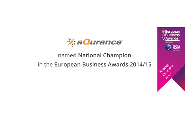 H Aqurance στους εθνικούς νικητές των European Business Awards