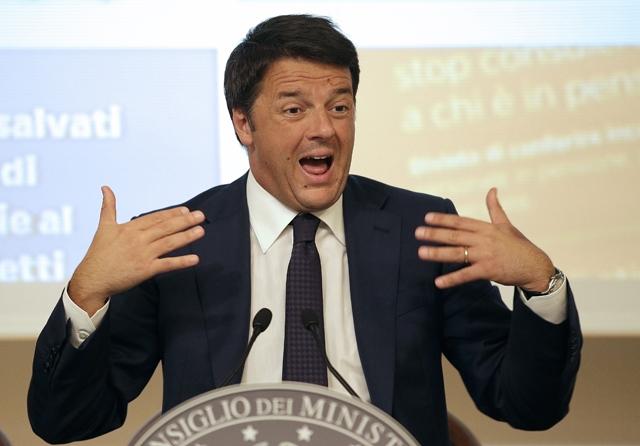 Επενδύσεις εκτός του Συμφώνου Σταθερότητας ζητά ο Ρέντσι