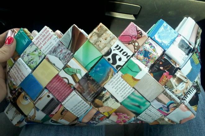Χειροποίητες τσάντες από…περιοδικά