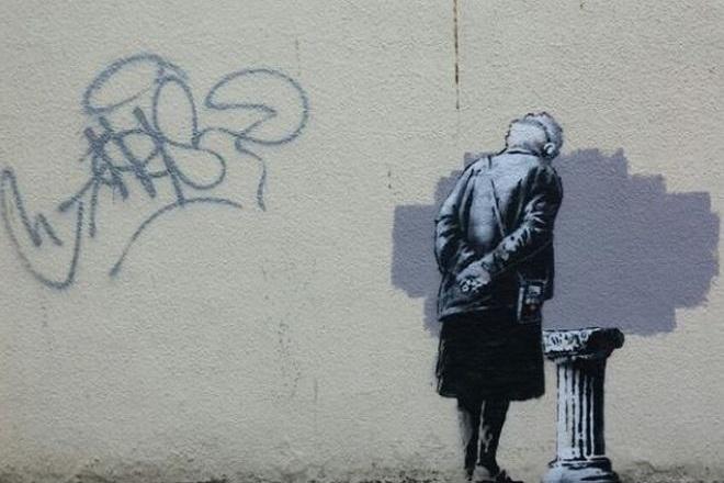 Ο ελληνικός κίονας του Banksy