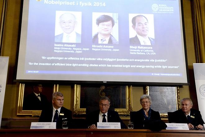 Στους εφευρέτες του LED το βραβείο Νόμπελ Φυσικής