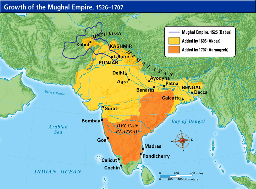 Mughal Empire Map