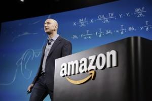 Amazon CEO Bezos discusses his company's new Fire smartphone in Seattle, Washington