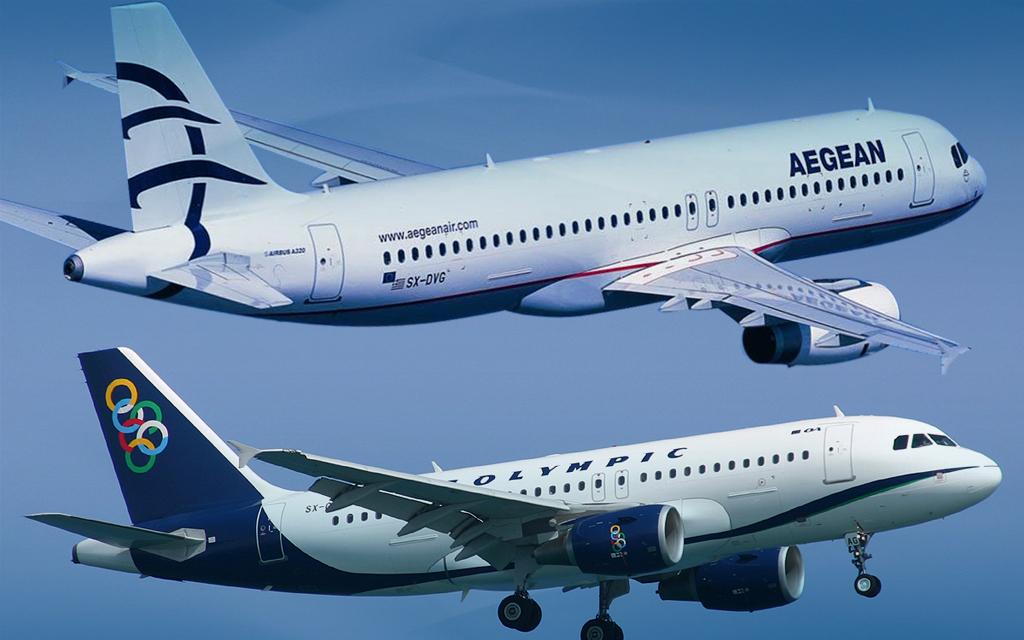 Ματαίωση πτήσεων της AEGEAN και της Olympic Air
